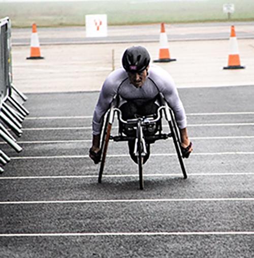 Josh Landmann Competes in the ITU World Cup para-triathlon!